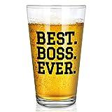 Best Boss Ever-Bierglas, 425 ml, für Herren, Mangers Bosss, Geschenkidee für Chef,...