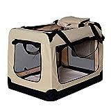 dibea Hundetransportbox Hundetasche Hundebox faltbare Kleintiertasche Größe (L) 70x52x50...