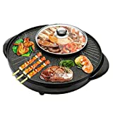 KYL Elektrogrill Hot Pot, Barbecue Pot Elektrische Backform, Elektro-Ofen, Einstellbarer Temperatur Contro, Non-Stick einfache Reinigung