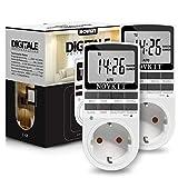 2x NOVKIT digitale Zeitschaltuhr Steckdose mit 10 konfigurierbaren wöchentlichen...