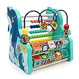 Q-FQRM Motorikschleife Spielzeug Abakus Holzspielzeug Baby  3 in 1 Lernspielzeug Geschenke...