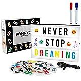 Light Box A4 mit 300 Buchstaben und Emojis, USB - BONNYCO   Ä Ö Ü ß   Led Lichtkasten...