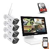 ANNKE WLAN Überwachungskamera Set Außen mit Monitor 4CH 10.1 Zoll 5MP wireless NVR und...