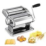 Nudelmaschine Pasta Maker Edelstahl Frische Manuell Pasta Walze Maschine Cutter mit Klemme...