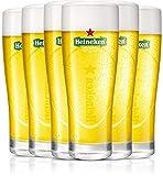 Heineken   Biergläser   6-teiliges Set   Ellipse   25 cl / 250 ml   Grünes Logo   Bier...