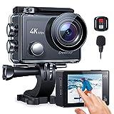 Action Cam 4K/60FPS, Crosstour CT9900 Touchscreen Unterwasserkamera Helmkamera (WiFi...