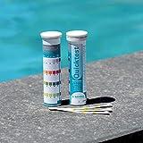 BAYROL Quick Test - 50 x Pool Teststreifen für pH Wert / Chlor / Alkalinität / Algizid
