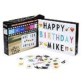 Powerextra A4 Leuchtschilder mit 16 Farbwechsel, Light box mit 265 Buchstaben (95...