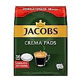 Jacobs Pads Crema Classic, 180 Senseo kompatible Kaffeepads UTZ-zertifiziert, 5er...