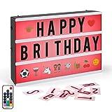 Leuchtkasten,CrazyFire A4 LED Lichtbox,Farbwechsel Lichtkasten,Leuchte Box,189 Buchstaben...