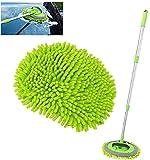 2 in 1 Car Wash Soft Care Bürste Mop Fahrzeugreinigung Fenster Verstellbare Teleskop für...