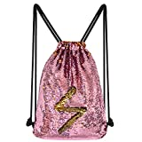 Pailletten Kordelzug Rucksack Magic Reversible Flip Glitzer Meerjungfrau Pailletten Regenbogen Tasche Gym Yoga Dance Bag Women
