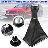 Jiqiaoda2 Shift Knob&Car Interior Parts 5 Speed Car Gear Shift Knob with Gaiter Boot Cover for Bora Jetta Golf MK4 Universal Easy to Install Car Supply Durable