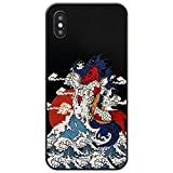 Handyhülle,Für Das iPhone 11 7 8 7 8 Plus X Xs Xr Xs Max Case,Malte Geprägte Squid Surf Phone Case Gummi Soft-Touch-Abdeckung Volle Schutzhülle,for iPhone 11Pro Max 6.5(Inch)