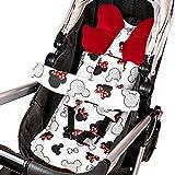 Sitzauflage Kinderwagen Einlage - Buggy Auflage Sitzeinlage für Kindersitz atmungsaktiv...