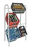 Spetebo Kastenständer XXL für 6 Kisten - Farbe: weiß - Getränkekistenregal,...