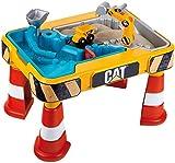 Theo Klein 3237 CAT Sand- und Wasserspieltisch I Mit Baggerarm, Kipper, 2 Rohren, Stoppern...