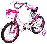 Actionbikes Kinderfahrrad Daisy - 16 Zoll – V-Break Bremse vorne - Stützräder -...
