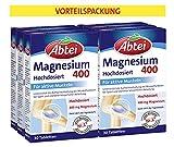 Abtei Magnesium 400 - Magnesiumtabletten hochdosiert, Tabletten zur Aktivierung und...