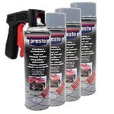 Steinschlag & Unterbodenschutz Spray Hell Grau Presto 4 X 500ml mit Pistolengriff
