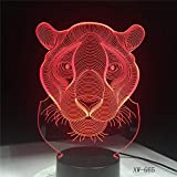 Kinderlampe 3D Lion Night Light Farben 3D Creative LED Glanz Acryl Kinder Kinder Geschenke Indoor Office Lig