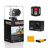ICONNTECHS IT Action Cam 4K 30fps 20MP Wasserdichte Sport Action Kamera für Tauchen WiFi 170 Grad Weitwinkel HD Helmkameras Unterwasser Camcorder mit Fernbedienung