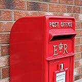 Briefkasten im englischen Stil Postkasten rot Wandbriefkasten Standbriefkasten Post Box...