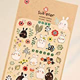 HENJIA Sticker DIY Dekorativer Sticker für Album Scrapbook Kawaii Stationery Diary Sticker