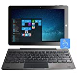 10,1 'Windows 10 Tablet-PC-Touchscreen 2-in-1-Laptop, Intel Quad Core 1.92 GHz, 4 GB DDR3, 32 GB eMMC, IPS, Bluetooth, HDMI, USB, Dual Kamera, WLAN, Micro SD, Tastatur inklusive (QWERTY)