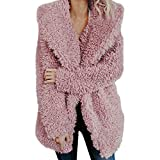 serliyMäntel Damen, Mantel Winter Warm Revers Künstlich Mantel Jacke Parka Lose Faux Für Langarm Oberbekleidung Winterjacke Wintermantel Fleecejacke Übergangsjacke Wärmejacke