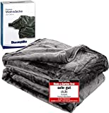 Dunlopillo Premium Wohndecke 150x200cm - Kuscheldecke Platingrau - extra weiche TV- Decke...