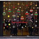 BLOUR Hängende Weihnachtskugeln Dekoration Aufkleber Einkaufszentrum Fenster Aufkleber...