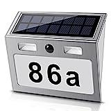 Solar beleuchtete Hausnummer mit 7 LEDs, ECHTPower Solar Hausnummer Solar...