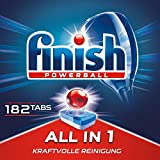 Finish All in 1 Spülmaschinentabs für 3 Monate, Gigapack, 1er Pack (1 x 182 Tabs)