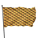 LZHANDA Garten Flaggen Viplili Flagge Fahne, Garden Flag Mermaid Fish Scale Outdoor Yard Flag Wall Lawn Banner Home Flag Decoration 3' X 5'