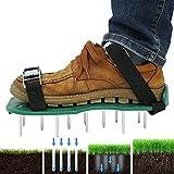 Rasenlüfter Schuhe, Rasenbelüfter Nagelschuhe Vertikutierer Rasen Stachelschuhe mit...