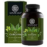 NATURE LOVE Bio Curcuma (240 Kapseln) - Curcumin & Piperin - laborgeprüft, hochdosiert,...