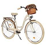 Milord. 26 Zoll 3-Gang Creme-braun Komfort Fahrrad mit Korb und Rückenträger,...