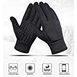 Touch Screen Windsicher Handschuhe, Outdoor-Sport Männer Frauen Warm Verdicken Winter-Windstopper Herren Handschuhe
