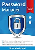 Password Manager Professional Edition - Sicher wie ein Safe für Windows 10-8-7 und Mobile iOS & Android