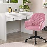 Flieks Bürostuhl / Drehstuhl, ergonomisch, Samt, Chefsessel, verstellbar, Computerstuhl...