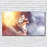 XWArtpic Malerei Bild Sterne Klassische Hollywood Science Fiction Wars Movie Poster Dekoration wandkunst Kinderzimmer leinwand malerei 90 * 165 cm