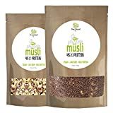 ProVista Protein Müsli 45% - Eiweiss-Muesli Low er Carb 1500g vegan (Mix-Pack)