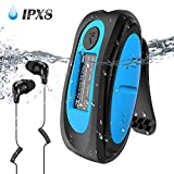 IPX8 Wasserdicht MP3 Player, 8GB HiFi MP3 Musik Player zum Schwimmen und Laufen, mit...
