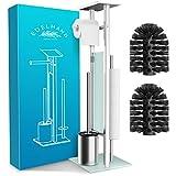 EDELHAND© Toilettenpapierhalter stehend als WC Garnitur [mit GRATIS Klobürste] -...