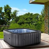 BRAST Whirlpool aufblasbar MSpa TEKAPO für 4 Personen 158x158cm In-Outdoor Pool 108...