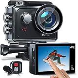 AC920 Action Cam 4k/60fps 20MP EIS Anti-Shake WiFi Touchscreen Helmkamera 40M...