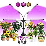 EWEIMA Pflanzenlampe LED Vollspektrum Pflanzenlicht 80 LEDs, 4 Köpfe Grow Lampe...