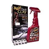 Meguiar's ME G1116 G1116EU Quik Clay Starter Kit Reinigungsknete, 80g + 473ml