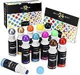 Waschbare Marker, Magicfly 12 Farbige Bingo Marker Dot Dabber Kinder Stifte mit Malbuch,...